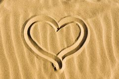 wypatroszone serce piasku Fotografia Stock