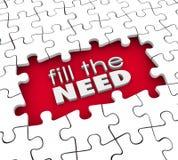 Wypełnia potrzeba klienta żądań produktu usługa marketing royalty ilustracja