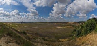 Wypełniająca odkrywkowa kopalnia Zdjęcia Royalty Free