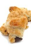 wypełniający czekoladowi croissants Zdjęcia Royalty Free