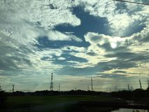 wypięknia chmurę i niebo Zdjęcie Stock
