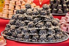 wypiętrzająca asortyment czekolada Obrazy Royalty Free