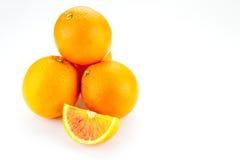 Wypiętrzająca up pomarańcze Fotografia Stock
