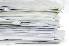 Wypiętrzający up biurowej pracy papiery Obrazy Stock