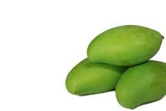 Wypiętrzający Up Wibrujący Zielonego koloru Młodzi mango Tajlandia Fotografia Stock