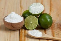 Wypiekowa soda - sodium cytryna i dwuw?glan zdjęcie stock