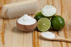 Wypiekowa soda - sodium cytryna i dwuw?glan fotografia stock