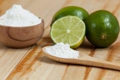 Wypiekowa soda - sodium cytryna i dwuw?glan zdjęcia stock