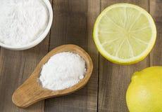 Wypiekowa soda - sodium dwuw?glan Bicarbonato zdjęcia royalty free