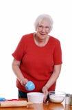 wypiekowa starsza kobieta Zdjęcia Royalty Free