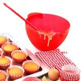 wypiekowa tortów filiżanki czerwień Fotografia Royalty Free