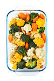wypiekowego naczynia surowi warzywa Zdjęcie Stock