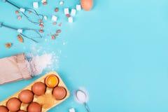 Wypiekowi ciastek, kulebiaka i torta składniki, Fotografia Royalty Free
