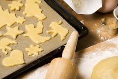 wypiekowy bożych narodzeń ciastek szczegół Fotografia Royalty Free