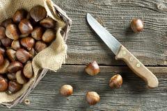 Wypiekowy słodki kasztan Fotografia Stock