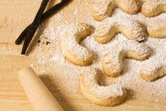 wypiekowy vanillekipferl Obrazy Royalty Free