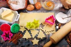 wypiekowych bożych narodzeń ciastek kierowa księżyc kształtów gwiazda Obrazy Royalty Free