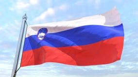 Wyplatać flaga kraj Slovenia fotografia royalty free