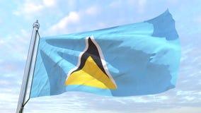 Wyplatać flaga kraju święty Lucia royalty ilustracja