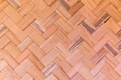 Wyplata bambusową teksturę Zdjęcie Stock