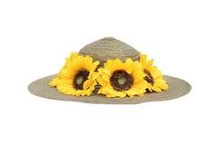 Wyplata kapelusze słonecznikowych Zdjęcie Stock
