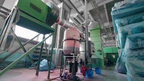 Wyposażająca barwiarska jednostka przemysłowa fabryka zdjęcie wideo