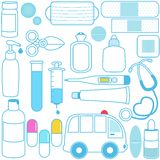 wyposażeń medyczne medycyn pigułki Zdjęcie Stock