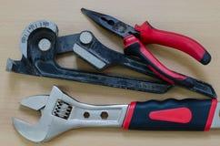 Wyposażeń narzędzia dla lotniczego naprawiania Fotografia Royalty Free