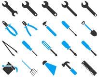 Wyposażenia i narzędzi ikony Fotografia Stock