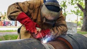 wyposażenia ostrości spaw ochronny selekcyjny spawacza spaw Fotografia Stock