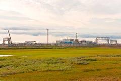 wyposażenia przemysłowa nowa przerób ropy naftowej strefa Zdjęcia Stock