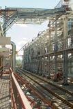 wyposażenia przemysłowa nowa przerób ropy naftowej strefa Stalowi rurociąg Obrazy Royalty Free