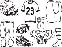 wyposażenie amerykański futbol Zdjęcie Stock