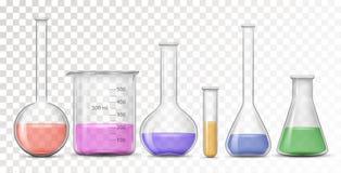 Wyposażenie dla chemicznego lab ilustracji