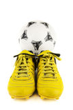 Wyposażenie dla gracza piłki nożnej Fotografia Royalty Free