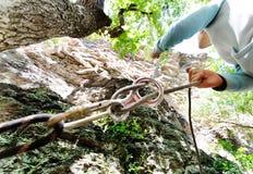 Wyposażenie dla rockowego pięcia lub mountaineering Obrazy Royalty Free