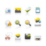 wyposażenia ikony fotografii set Zdjęcie Royalty Free