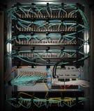 45 wyposażenia port ethernet rj routera zmiany telekomunikacja Zdjęcie Stock