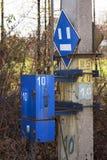 wyposażenia sztachetowy signalization ruch drogowy obrazy royalty free