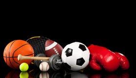 wyposażenie asortowani czarny sporty Fotografia Stock