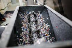 Wyposażenie dla przerobu klingerytu odpady w fabryce Fotografia Royalty Free