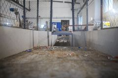 Wyposażenie dla przerobu klingerytu odpady w fabryce Obraz Stock