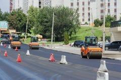 Wyposażenie naprawa na drodze Fotografia Stock