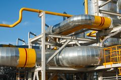 Wyposażenie przerób ropy naftowej Obrazy Royalty Free