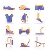 wyposażenia ikon przedmiotów sporty Zdjęcia Stock