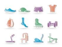 wyposażenia ikon przedmiotów sporty Obrazy Stock