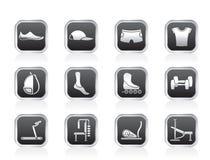 wyposażenia ikon przedmiotów sporty Obraz Royalty Free