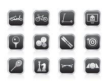 wyposażenia ikon przedmiotów sporty Zdjęcie Royalty Free
