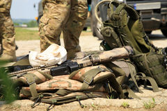 wyposażenie zmusza taktycznego żołnierza dodatek specjalny Zdjęcie Royalty Free