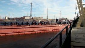 Wyprawa statek w oceanie na Nowym Ziemskim Vaigach zdjęcie wideo